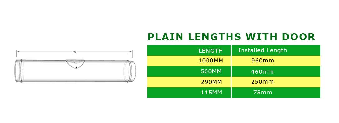 length with door